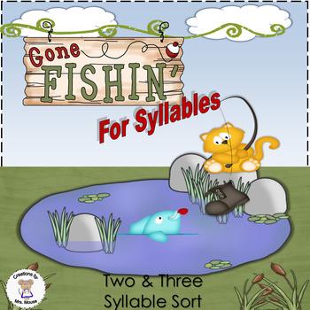 Phonics-Syllables - Gone Fishin'