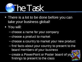 going global international business web quest by la nette mark