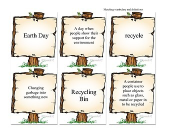 "Earth Day Vocabulary Resource - ""Going Green"" isn't just for Earth Day!"