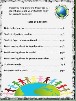 Going Green Project Based Learning