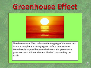 Going Green Talking PowerPoint & Four Puzzle Pack (Earth Day)