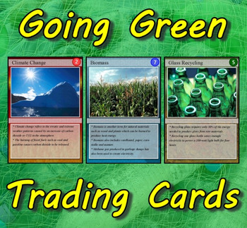 Going Green Trading Cards (Earth Day)