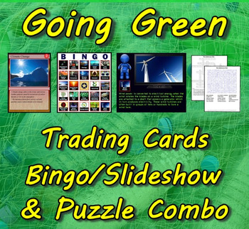 Going Green Trading Cards, Bingo/Slideshow and Puzzle Combo (Earth Day)