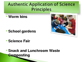 Going Green and Sciece Alive At an Elementary School