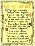 Going Home?- {A collection of fun sayings for the end of the day}
