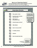 Going Home Checklist with Sample