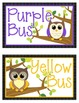 Going Home Clip Tracker BUS COLORS: Cute Owl Themed
