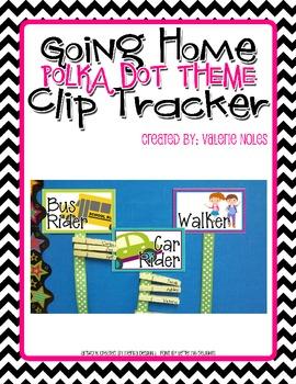 Going Home Clip Tracker: Bright Polka Dots