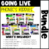 Going Live: Phonics Riddles – Bundle – Great for Zoom and Teams