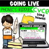 Going Live:  Phonics Riddles – CVCe Long Vowels – Great fo