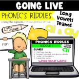 Going Live: Phonics Riddles – Long A Vowel Teams – Great f
