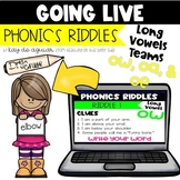 Going Live: Phonics Riddles – Long O Vowel Teams – Great f