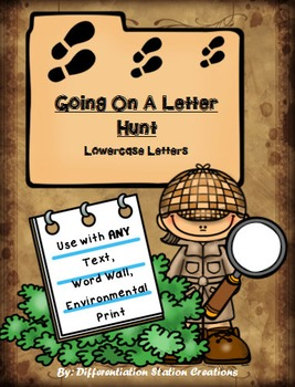 Going On A Letter Hunt: Scavenger Hunts for Any Text, Lowe