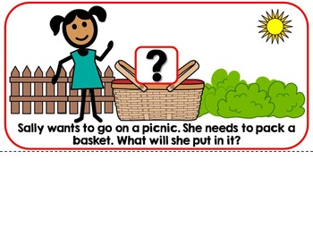 Going On A Picnic In Spring Adapted Interactive Book {Autism, Early Childhood}
