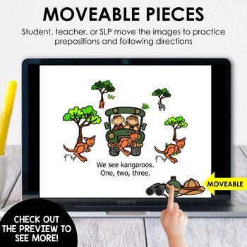 Going On A Safari - Language Describing Activity - No Print - Teletherapy