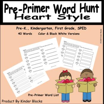 Going On A Word Hunt Bundle - Pre-primer and Primer Words