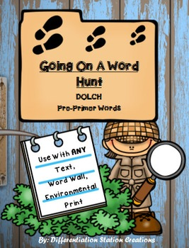 Sight Words Pre-Primer: Word Hunt