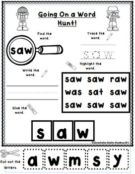 Sight Words Primer: Word Hunt