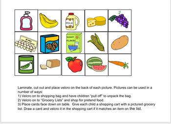 Going Shopping - An Interactive Adapted Book (Preschool, Speech Therapy, Autism)