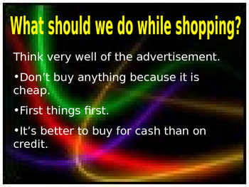 Going Shopping (Fact and Opinion)