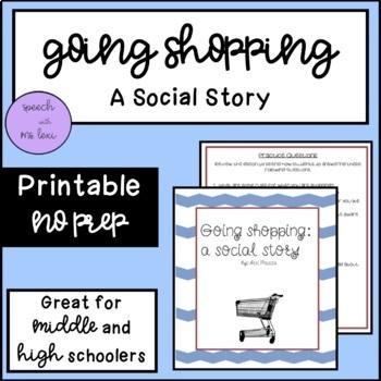 Going Shopping Social Story