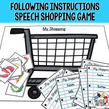Going Shopping Speech Life Skills Game