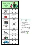 Going Shopping Visual Schedule - For Kids With Autism