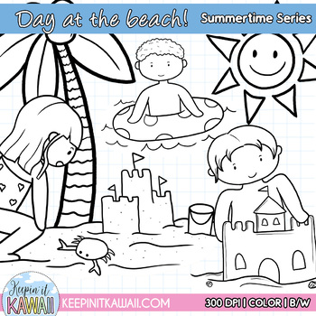 Going To The Beach Fun Summer Clip Art