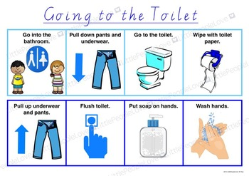 Going To The Toilet Routine Chart
