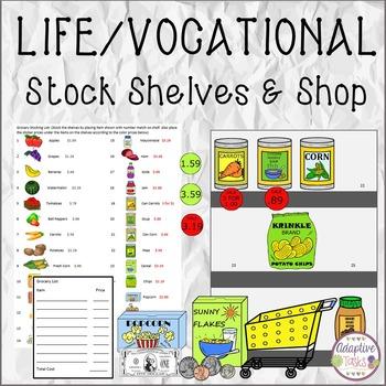 LIFE SKILL/VOCATIONAL SKILL Stock Shelves and Shop