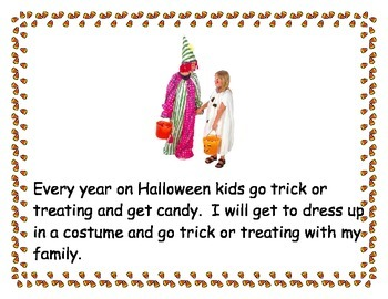 Going Trick or Treating Social Story Packet