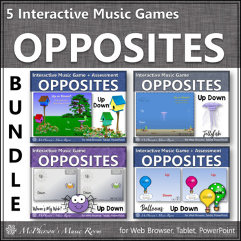 Going Up or Going Down?  Melodic Direction Interactive Music (Bundle)