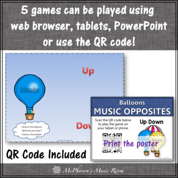 Music Opposite Melodic Direction Interactive Music Games + Assessments {Bundle}