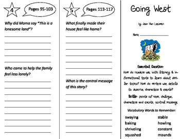 Going West Trifold - ReadyGen 2016 2nd Grade Unit 5 Module B