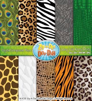 5ff6d99b55 Going Wild Animal Print Digital Scrapbook Pack — Rainforest   Jungle
