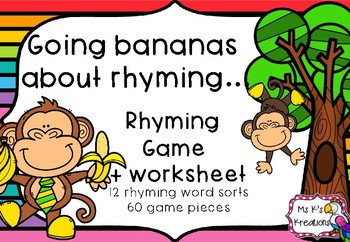 Going bananas about rhyming game