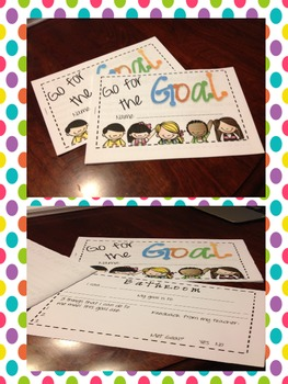 Going for the Goals Procedure Lesson Goal Sheets(Beginning of the Year Activity)