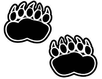 Going on a Bear Hunt Badge and Foot Print Printables