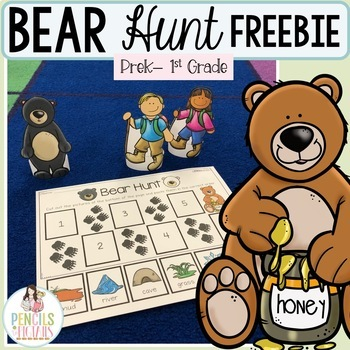 We're Going on a Bear Hunt Worksheet and Retell Activity