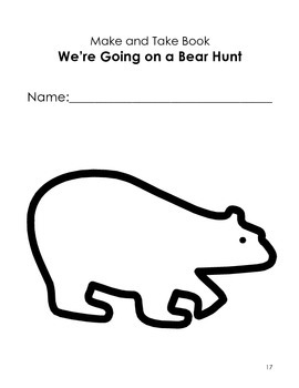 """Going on a Bear Hunt"" Pre-school Unit- General & Special Education."