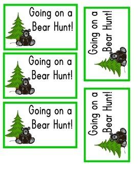 Going on a Bear Hunt Prop Bag Label