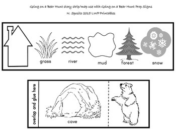 Going on a Bear Hunt Story Strip by LWP Printables TpT