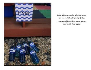 Going on a Bear Hunt, river bottle labels