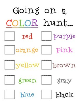 Going on a Color Hunt...