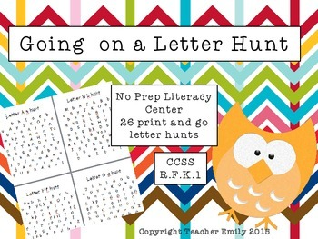 Going on a Letter Hunt