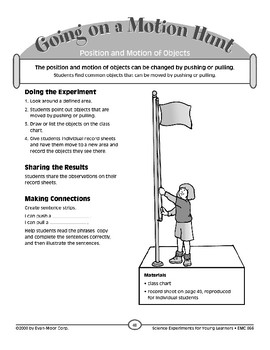 Going on a Motion Hunt (Position and Motion of Objects)
