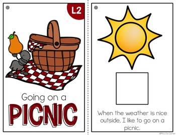 Going on a Picnic Adapted Books ( Level 1 and Level 2 )