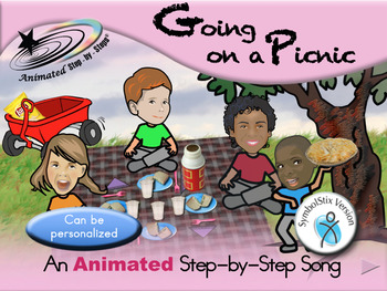 Going on a Picnic - Animated Step-by-Step Song - SymbolStix