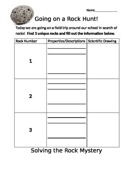 Going on a Rock Hunt: A rock search around school grounds