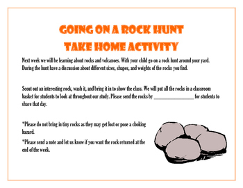 Going on a Rock Hunt Take Home Activity